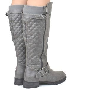 Premier Margo Gray Quilted Knee High Riding Boot